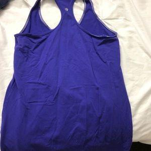 Blue lulu lemon tank top